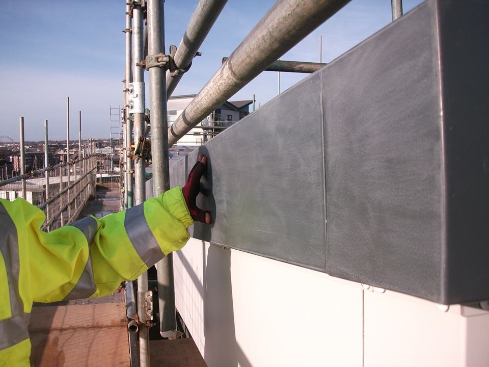 Paint Spraying on Site